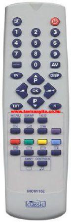 IRC 81152,IRC81152 BEKO 7SZ187 7SZ196 7TK187 távirányító