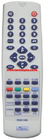 IRC 81386,IRC81386 BEKO RC 647340, RC647340 távirányító