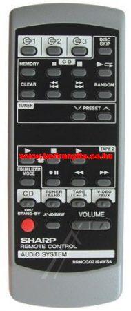 SHARP  gyári távirányító RRMCG0219AWSA RRMCG0219AWSA INFRARED R-C