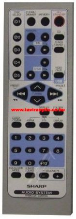 SHARP  gyári távirányító RRMCGA123AWSA távirányító